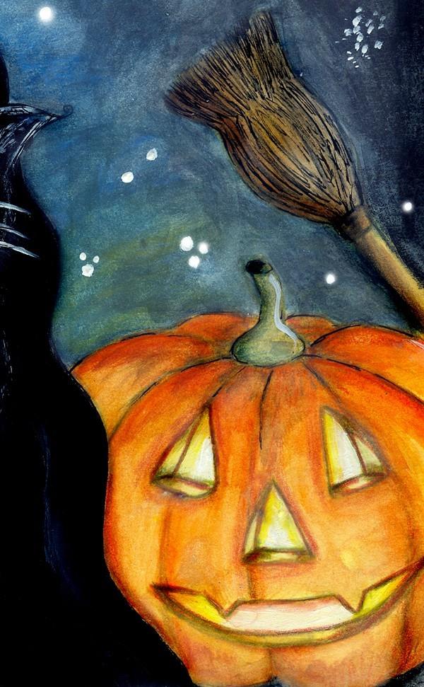 Halloween - Art Print - Willowing Arts