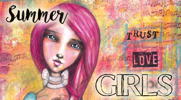 summer girls mixed media class from tamara laporte